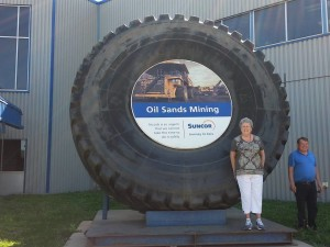 Tire at Suncor